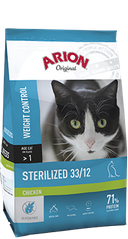 ARION Adult Cat Sterilized 33/12 Chicken 7,5 кг