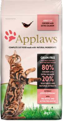 Applaws Adult Cat Chicken with Extra Salmon 2 кг
